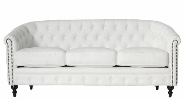ホワイトのチェスターフィールドソファのおすすめをご紹介